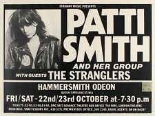 "Patti Smith / Stranglers Hammersmith 16"" x 12"" Reproduction promo Poster Photo"