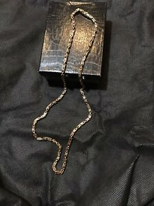 """14KT Solid Yellow Gold Byzantine Square 25.5"""" Handmade 47.7 Grams chain/necklace"""