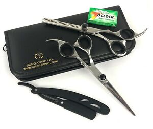 """6"""" Professional Hairdressing Scissors Haircutting Barber Thinning with Razor"""