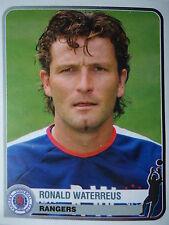PANINI 316 Ronald Waterreus Rangers FC Champions Europe 1955-2005