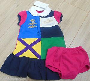 Ralph Lauren baby girl dress & knickers set  9-12 m NEW outfit