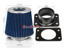 BLUE Mass Air Flow Sensor Intake MAF Adapter + Filter For 92-00 SC400 4.0L V8
