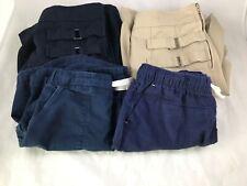 Girls - Lot of 4 - French Toast - Navy / Beige Uniform Skirts & Shorts - Size 8