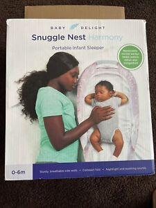 Baby Delight Snuggle Nest Harmony Portable Infant Sleeper ~Pink & White Open Box
