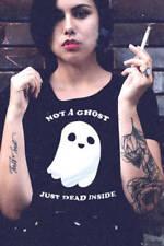 Grunge Regular Size Basic T-Shirts for Women