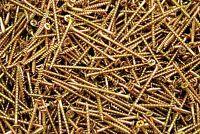 (1200) Phillips Bugle Head 8 x 2-1/2 Coarse Drywall Wood Screw - Yellow Zinc