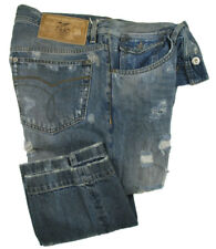 D&G Jeans   Slim Carrot Fit   western grey blue ripped DOLCE GABBANA