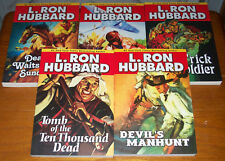 Pulp Fiction Stories From the Golden Age Paperbacks by L. Ron Hubbard Lot 5 Set