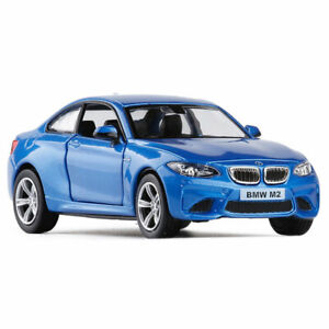 1:36 BMW M2 Model Car Metal Diecast Gift Toy Vehicle Kids Boys Collection Blue