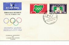 1968 Olympic Games Mexico City, FDC Lagos.