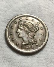 1854 Braided Hair Large Cent  CH AU BEAUTY - INV#6792