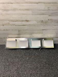 Home Decorators Alberson 4-Light Brushed Nickel LED Bath Light 1001514599