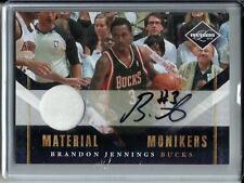 Brandon Jennings 10/11 Panini Limited Autograph Game Used Jersey #22/49