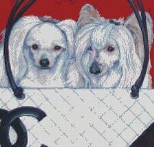KIT Punto Croce 2 cani nudo cinese