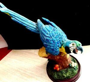 Vintage Stone Resin Parrot Figurine Bird Collection Home Patio Decor