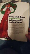 Vintage Simplicity Tractors and Attachments Original Sales Brochure sovereign
