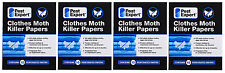 Pest Expert® Clothes Moth Killer Strips Papers (Twinpack) X4