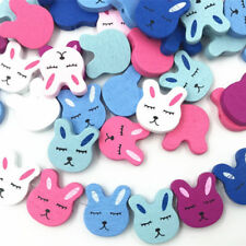 50pcs Wooden Rabbit Loose Beads Mix color jewelry making Spacer Wood Besds 2cm