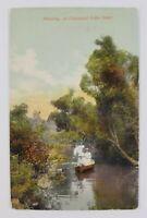 Postcard Boating on Conneaut Lake Pennsylvania 1913