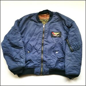 Avirex MA-1 Air Force Bomber Jacket | XL | Navy Blue | Rare