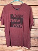 Aeropostale mens size XL graphic tee pullover shirt red Aero New York