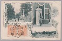 1911 Lorenzo Marques Mozambique postcard  cover to USA City Scenes Real Photo