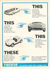 1967 Fiberfab Kit Car -   Classic Vintage Advertisement Ad H92