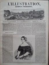 L' ILLUSTRATION 1844 N 52 MARIE-CHRISTINE DE BOURBON- SICILE EX- REINE D'ESPAGNE