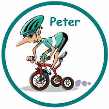 CYCLING -  FUNNY PERSONALISED - CAR TAX DISC HOLDER - ANY NAME - NEW - REUSABLE