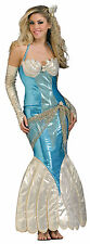 Mermaid Ariel Blue Sexy Dress Up Halloween Deluxe Adult Costume