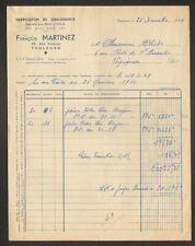 """TOULOUSE (31) USINE de CHAUSSURES Cousues main """"François MARTINEZ"""" en 1949"""