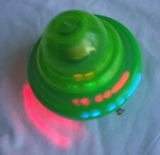 Battery Operated Spinning Flash Top Ultra Rotate Speed w/ LED Sound Effect Green
