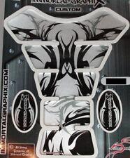 Silver Tribal Metallic 3D Gel Motorcycle Gas Tank Pad tankpad Protector