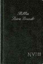 NVI Spanish Large Print Bible with Concordance, Black paperback