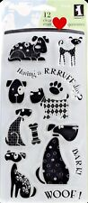 NEW Inkadinkado Dogs Canines Clear Stamp Set Scrapbooking Pets BONE WOOF 97620