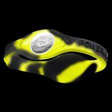 Authentic Power Balance Silicone Wristband - Swirl Neon Yellow/Black - Small