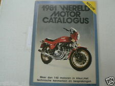 1981 WERELD MOTOR CATALOGUS ALL MOTORCYCLE MODELS DUTCH MARKET, VESPA,BMW,BENELL