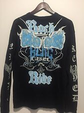 Blac Label Boys XL (18/20) Shirt Navy Blue Embroidered Unique Rare Design