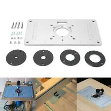 700C Aluminum Router Table Insert Plate + 4 Rings Screw For Woodworking Benches