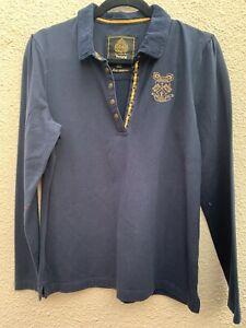 Toggi Blue Cord Collar Polo Shirt Size 12