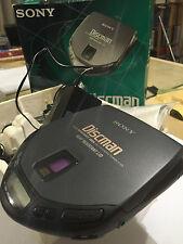 SONY D-173 PERSONAL CD PLAYER DISCMAN CD WALKMAN EARPHONES PSU BOXED GWO