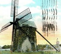 OLDEST Windmill On Cape Cod Eastham Windmill 1929 Mass Vintage Postcard
