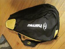 Harrow squash tennis 3 racquet pro bag black yellow/gold