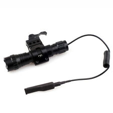 1000 Lumen Tactical LED Flashlight with Picatinny Rail Mount + Pressure Switch
