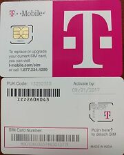 Used T-MOBILE Micro SIM  TO BOOT OR TESTING UNLOCK GSM phone UNLOCKING TMOBILE