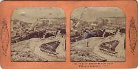 Marsiglia Panorama Del Vecchio Port Stereo Diorama Tessuto Stereoview Vintage