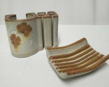 Vintage Snug Hill Pottery Toothbrush/Toothpaste Holder Soap Dish Studio Potter