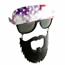 Sun-Staches American Trucker Glasses Duck Dynasty Beard Style Costume Accessory
