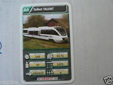 22 SUPER TRAIN A4 TALBOT TALENT TREIN KWARTET KAART, QUARTETT CARD