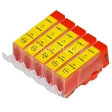 5 Tintenpatronen CANON + Chip CLI-521 Y PIXMA MP 540 550 560 MX NEU